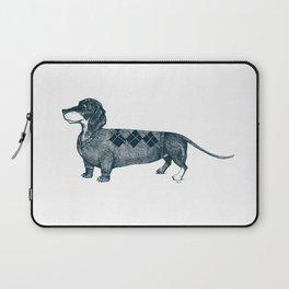 Dachshund wearing argyle sweater Laptop Sleeve