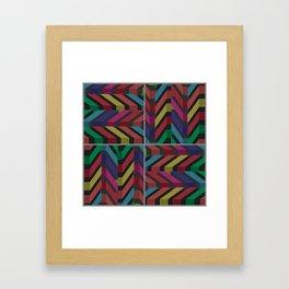 Geometric pattern 1 Framed Art Print