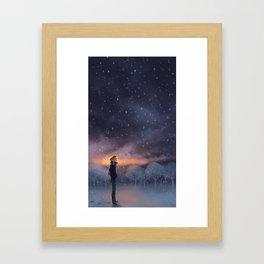 Ten Thousand Snowflakes Framed Art Print