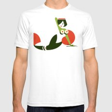 Makimaid Mens Fitted Tee SMALL White
