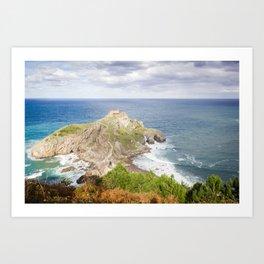 San Juan de Gaztelugatxe landscape Art Print