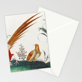 Chinese painting featuring two birds among flowers (ca1800-1899) from the Miriam and Ira D Wallach D Stationery Cards