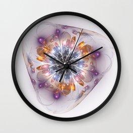 Flower in Glass Wall Clock