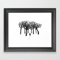 A Tangle of Trees Framed Art Print