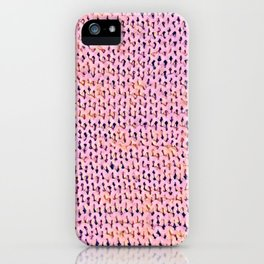 Pink Stockinette iPhone Case