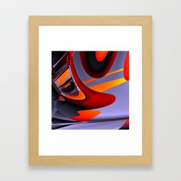 get into the flow Framed Art Print