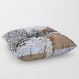 snowy path Floor Pillow