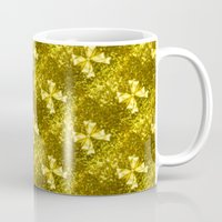 bows Mugs featuring Golden Bows  by Elena Indolfi