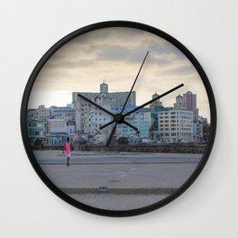 Malecon! Havana Wall Clock