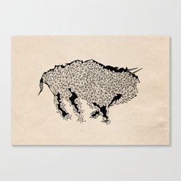 Geometric Bull Canvas Print