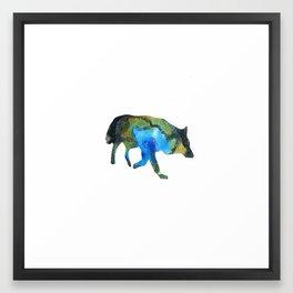 Cosmos_Wolf Framed Art Print