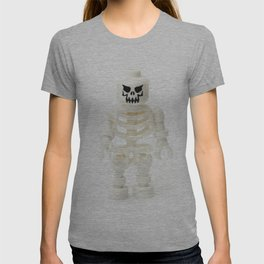 Scary white skeleton Minifig T-shirt