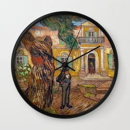 Vincent Van Gogh - Saint-Paul Asylum in Saint-Remy Wall Clock