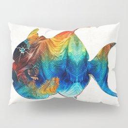 Trigger Happy Fish Art by Sharon Cummings Pillow Sham