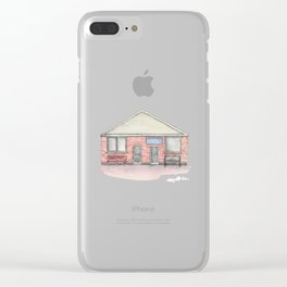 Deep River Pizza Clear iPhone Case