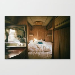 Mornings in an Airstream Canvas Print