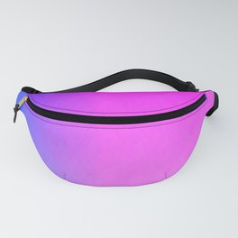 Blue purple to pink ombre vertical flames Fanny Pack