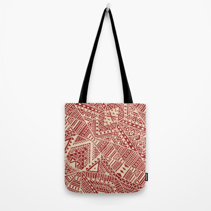 Tribal (red)  Tote Bag