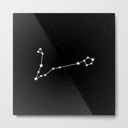 Pisces Astrology Star Sign Night Sky Metal Print