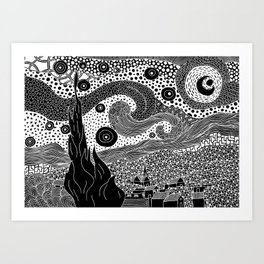 Van Gogh - Starry Night Art Print