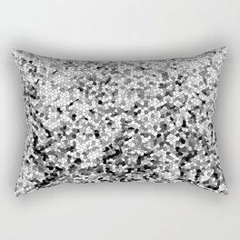 Design 100 black white mosaic Rectangular Pillow