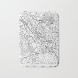 Bremen Map Line Bath Mat
