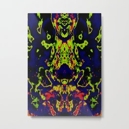 Neon Nightmare Metal Print