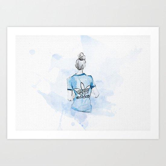 Adidas Girl Art Print