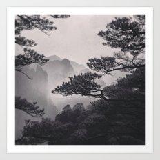 Huangshan Art Print