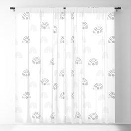 Light Grey Minimal Rainbow Monochrome Hand-Drawn Seamless Pattern Blackout Curtain