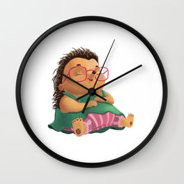 Ella the Hedgehog Wall Clock