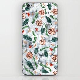 Grunge Roses Pattern iPhone Skin