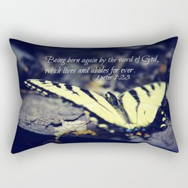 1 Peter 1:23 Born Again Rectangular Pillow