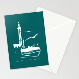 Home in Turquoise Stationery Cards