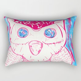 Owl is neon Rectangular Pillow