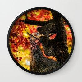 HAPPY THANKSGIVING   FROM WILD TURKEY Wall Clock