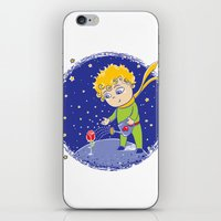 little prince iPhone & iPod Skins featuring Little Prince by Bruna Sousa