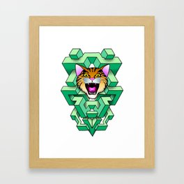 Geometry Cat Framed Art Print