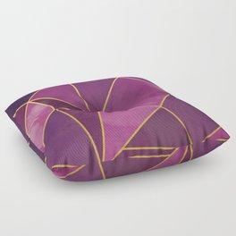 Shattered Tourmaline - Magenta Floor Pillow