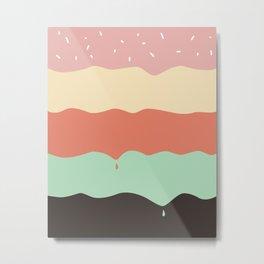 Ice Cream Layers Metal Print