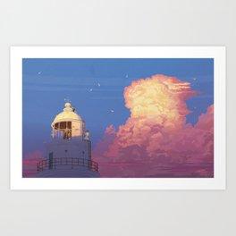 memories of gone summer [Goodbye summer days] Art Print