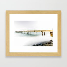 Pacifica Pier Framed Art Print