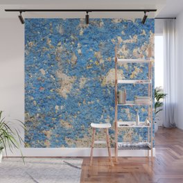 Textures in Blue Wall Mural