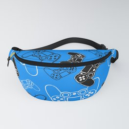 Video Games Blue Fanny Pack