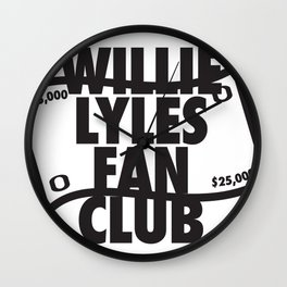Willie Lyles Fan Club Wall Clock