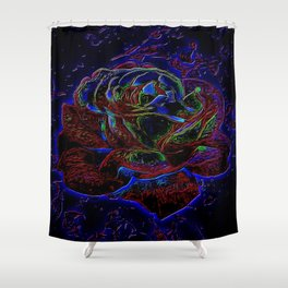 Floral Embosses: Roses 01-01 Shower Curtain