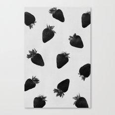 black strawberries Canvas Print