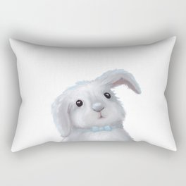 White Rabbit Boy isolated Rectangular Pillow