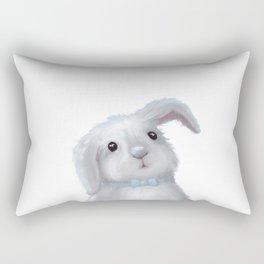 White Rabbit Boy isolated Rectangular Pillow