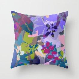 Wild Lavender Jungle Throw Pillow